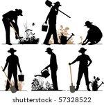 gardener. all elements and... | Shutterstock .eps vector #57328522