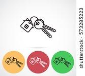 line icon   house keys | Shutterstock .eps vector #573285223