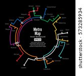 metro map vector. fictitious... | Shutterstock .eps vector #573285934