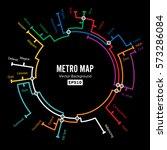 metro map vector. imaginary... | Shutterstock .eps vector #573286084