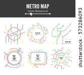 train metro map vector set.... | Shutterstock .eps vector #573286093