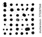 hand drawn set  blots  splashes ... | Shutterstock .eps vector #573287068