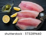 Raw Fresh Tilapia Fillets With...
