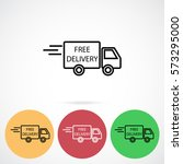 line icon  delivery is free | Shutterstock .eps vector #573295000