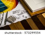 material selection for kitchen... | Shutterstock . vector #573299554