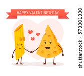 valentine's day card  love... | Shutterstock .eps vector #573301330