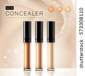 cosmetic product concealer... | Shutterstock .eps vector #573308110