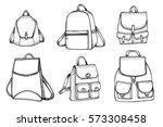 hand drawn vector set of sketch ...   Shutterstock .eps vector #573308458