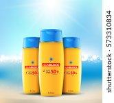 sunblock ads template  sun... | Shutterstock .eps vector #573310834