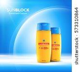 sunblock ads template  sun... | Shutterstock .eps vector #573310864