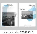 vector brochure cover templates ... | Shutterstock .eps vector #573315310