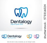 dentalogy logo template design... | Shutterstock .eps vector #573316024