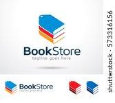 book store logo template design ... | Shutterstock .eps vector #573316156