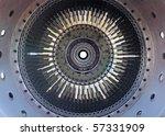 Turbo Jet Engine Of The Plane....