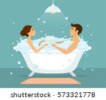 couple  man and woman taking...   Shutterstock .eps vector #573321778