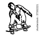 skater   Shutterstock .eps vector #57332221