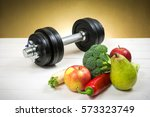 healthy lifestyle concept. eat... | Shutterstock . vector #573323749