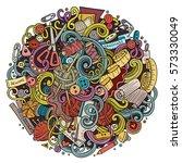 cartoon cute doodles hand drawn ... | Shutterstock .eps vector #573330049