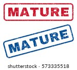 mature text rubber seal stamp... | Shutterstock .eps vector #573335518