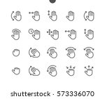 gesture view outlined pixel... | Shutterstock .eps vector #573336070