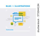 blue line illustration concept... | Shutterstock .eps vector #573344134