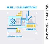 blue line illustration concept... | Shutterstock .eps vector #573344236