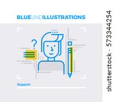 blue line illustration concept... | Shutterstock .eps vector #573344254
