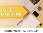 online marketing   linear text... | Shutterstock . vector #573348334