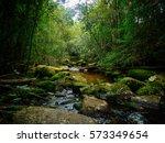 Mountain River Stream Landscap...