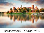 Wawel Hill With Castle In Pink...