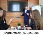 business training at office ... | Shutterstock . vector #573353308