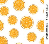 orange.vector seamless pattern. ... | Shutterstock .eps vector #573354310