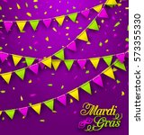 illustration bunting background ... | Shutterstock . vector #573355330