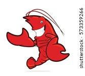 lobster presenting something | Shutterstock .eps vector #573359266