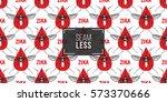 zika virus malaria alert. hand... | Shutterstock .eps vector #573370666
