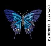 vector vintage butterfly ... | Shutterstock .eps vector #573371074