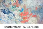 colored drops on concrete.... | Shutterstock . vector #573371308