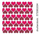 vector heart shaped seamless... | Shutterstock .eps vector #573381034