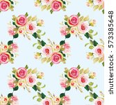 seamless floral pattern with... | Shutterstock .eps vector #573385648