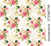 seamless floral pattern with... | Shutterstock .eps vector #573385798