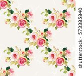 seamless floral pattern with... | Shutterstock .eps vector #573385840