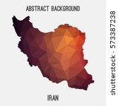 iran in geometric polygonal...