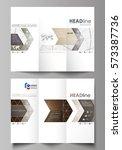 tri fold brochure business...   Shutterstock .eps vector #573387736