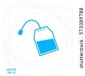 tea bag  icon. vector design. | Shutterstock .eps vector #573389788