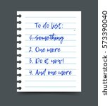to do list on a notepad paper... | Shutterstock .eps vector #573390040