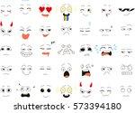 set of emoticons. vector | Shutterstock .eps vector #573394180