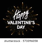 happy valentine's day greeting... | Shutterstock .eps vector #573396058
