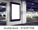outdoor parking advertising... | Shutterstock . vector #573397708