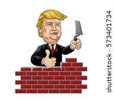 february 7  2017 . caricature... | Shutterstock .eps vector #573401734