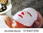 photodynamic therapy facial... | Shutterstock . vector #573407290